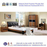 Einfaches zusammengebautes Schlafzimmer-Set-Möbel-hölzernes Bett (SH-003#)