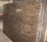 中国はブラウンの自然な大理石を磨いた。 1cm/1.5cm/2cm/3cm Thciknessのコーヒーブラウンの大理石の平板かタイル