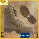 快適なスエード牛革ジッパーが付いている安いメンズ安全靴の軍の戦術的な砂漠ブート