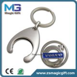 Token Coin Car Metal Keychain avec nickel mat fini