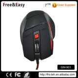 Melhor Revestimento de Borracha USB Wired Optical 7D Gaming Mouse
