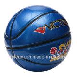 Баскетбол голубого нормального размера изготовленный на заказ лоснистый глянцеватый