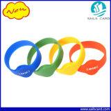 Wristband do silicone RFID de 13.56MHz 1k para o evento/partido/hotel e o presente