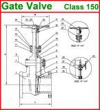 l'acciaio di getto 600lb ha flangiato valvola dell'estremità della galleria (GAZ40W)