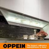Oppein 현대 높은 광택 백색 HPL 래커 나무로 되는 부엌 찬장 (OP16-117)