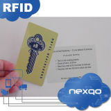 IDENTIFICATION RF en plastique sans contact Smart Card d'impression UV de coût bas avec le code barres