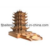 Architecture de découpage en bois antique