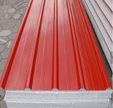 Painel de sanduíche isolado do telhado/parede do EPS do material de construção espuma ambiental