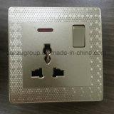 Socket de pared BRITÁNICO del interruptor de la cuadrilla del estándar 1