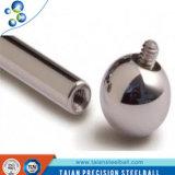 Las bolas de acero inoxidables con los orificios pasan a través de bola de acero perforada perforada con el orificio