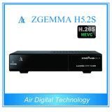 Ново! Самая быстрая сила тюнер DVB S2 Zgemma H5.2s H. 265 видео- Decodeing поддержки приемника спутникового телевидения твиновский