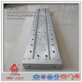 Гальванизированный отжатый тип доска /Planks отверстия ремонтины стальная для конструкции