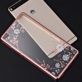 Huawei를 위한 호화스러운 다이아몬드 꽃 패턴 뒤표지 연약한 TPU 전화 상자