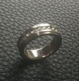 Les pierres de cercle plein de bijou de Shineme ont marqueté la boucle d'acier inoxydable (CZR2546)