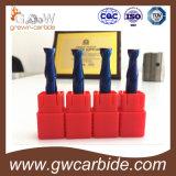 Feste Karbid-Kugel-Wekzeugspritze Endmills HRC55 3 Flöten für Aluminium