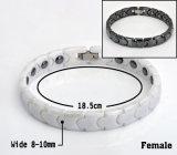 Bracelet en céramique perles en hématite pour dame avec fermoir en acier inoxydable