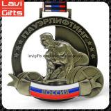 Medalla de encargo superior del levantamiento de pesas del precio de fábrica de la venta
