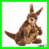 Le kangourou de peluche de cadeaux de Noël joue les jouets mous de peluche de kangourou