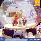 Haltbare riesige Weihnachtsfoto-menschliche Schnee-Kugel-aufblasbare Schnee-Haube