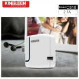 Kinglen'model C818 sceglie combinato intelligente del caricabatteria del USB 5V2.1A prodotto dalla fabbrica originale