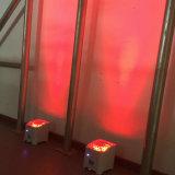 Móvil APP WiFi 4*18W elegante 6in1 Rgbaw LED con pilas ULTRAVIOLETA Uplight de la base de Rasha nuevo para el partido 6/10CH del acontecimiento