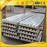 el final del molino 6063-T5 sacó perfil de aluminio industrial de la construcción