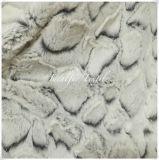 Pelliccia molle 100% della peluche di PV del poliestere con scarico