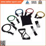 Conjunto colorido de la venda de la resistencia del tubo del ejercicio