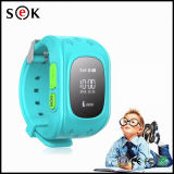 子供のための2016年の工場価格熱いGPSの追跡者のスマートな子供GPSの腕時計Q50の衛星人間の特徴をもつモニタSosのスマートな腕時計の電話