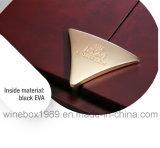 Caixa de presente de empacotamento do vinho do retângulo do MDF do luxo de alta qualidade