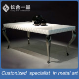Mobília da HOME da tabela de chá da prata do aço inoxidável do retângulo da manufatura da fábrica