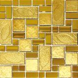 300X300mmの壁および床のための金銀製のクリスタルグラスのモザイク