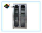 (C-1) Gabinete do instrumento do aço inoxidável de duas portas