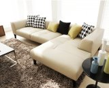 Sofá de couro simples e moderno da sala de visitas