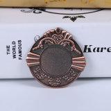 Medallas del día de fiesta del espacio en blanco de la pieza inserta del bronce de la aleación del cinc de la aduana de la venta al por mayor 2017
