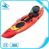 Kajak di plastica della canoa di pesca portatile di Whitewater, canoa della plastica di prezzi competitivi