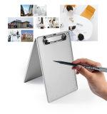 A5定規が付いているアルミニウムオフィスのクリップボードのメモ帳は印刷した