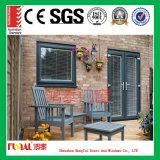 Puerta de aluminio modificada para requisitos particulares del color con el vidrio aislado insonoro