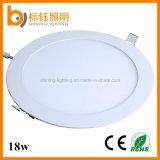 Iluminación interior delgada redonda de la luz del panel de AC85-265V 2700-6500k 18W LED