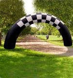 Ligne d'arrivée gonflable de chemin de sports voûte