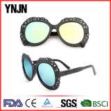 Lunettes de soleil noires colorées élégantes neuves de femmes de Ynjn (YJ-25344)