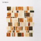 Fabrik-Preisfoshan-Mosaik-Fliese-gelb-orangees Schmucksache-Glas