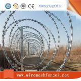 刑務所の塀のための電気電流を通された十字のタイプかみそりワイヤー