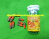Perte de poids grise orange en bonne santé de pillules de régime amaigrissant de citron amincissant la capsule