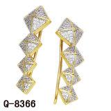 Monili d'imitazione 925 orecchini d'argento della CZ delle giovani signore