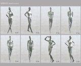 Mannequins femminili astratti per il vestito dalla visualizzazione della memoria