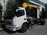 Dongfeng LHD Rhd 트럭은 기중기 드는 화물 자동차 트럭으로 거치했다