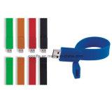 O flash barato do USB do silicone conduz o bracelete/Wristband do USB do silicone