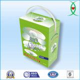 Detergente de lavandería en polvo con la caja de papel del paquete