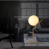Iluminação de suspensão moderna simples do quarto de leitura da lâmpada do pendente da esfera de vidro